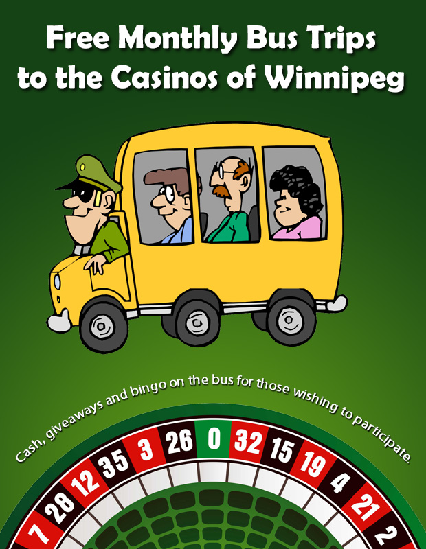 Free Monthly Bus Trips to the Casinos of Winnipeg