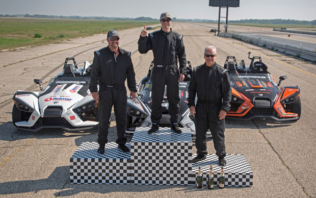 Champagne sprayed as championship decided in final Slingshot Racing