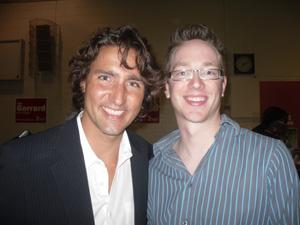 Justin Trudeau and Lee Fehler