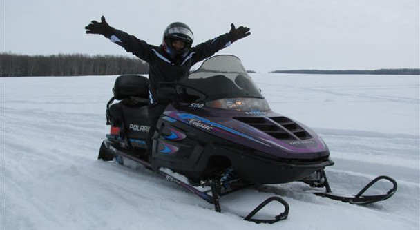 Generic photo of stolen snowmobile