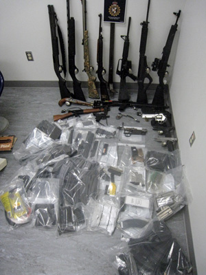 Firearms seized