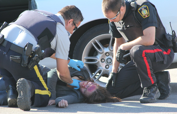Rcmp Mock Collision Gets Students Attention Mysteinbach