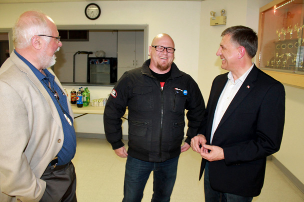 MP Falk after the meeting with MP Sopuck and Bob Lagassé, PC candidate for Dawson Trail.