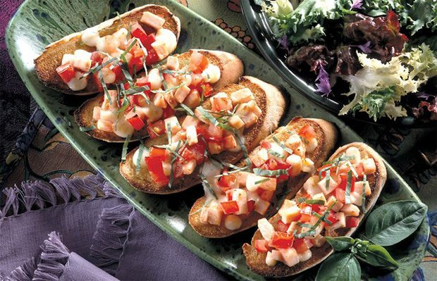 Smoked Turkey Bruschetta